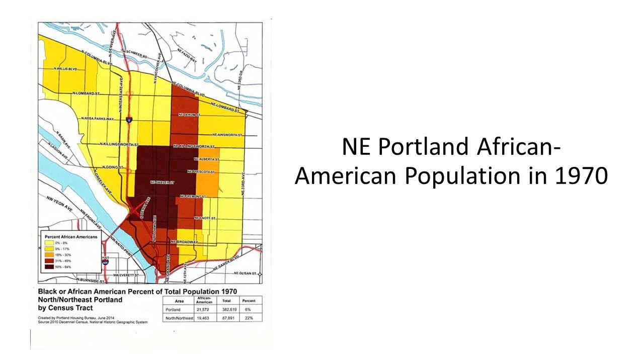 NE Portland African- American Population in 1970
