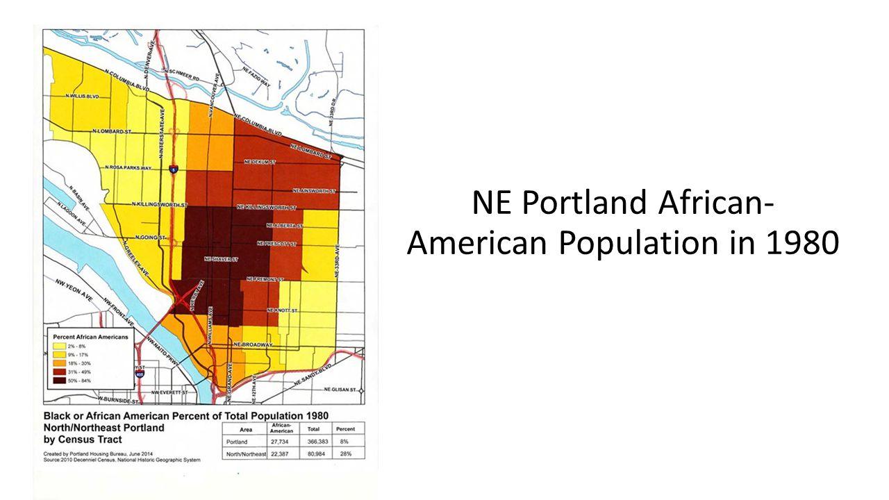 NE Portland African- American Population in 1980