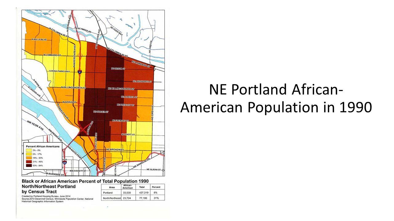 NE Portland African- American Population in 1990