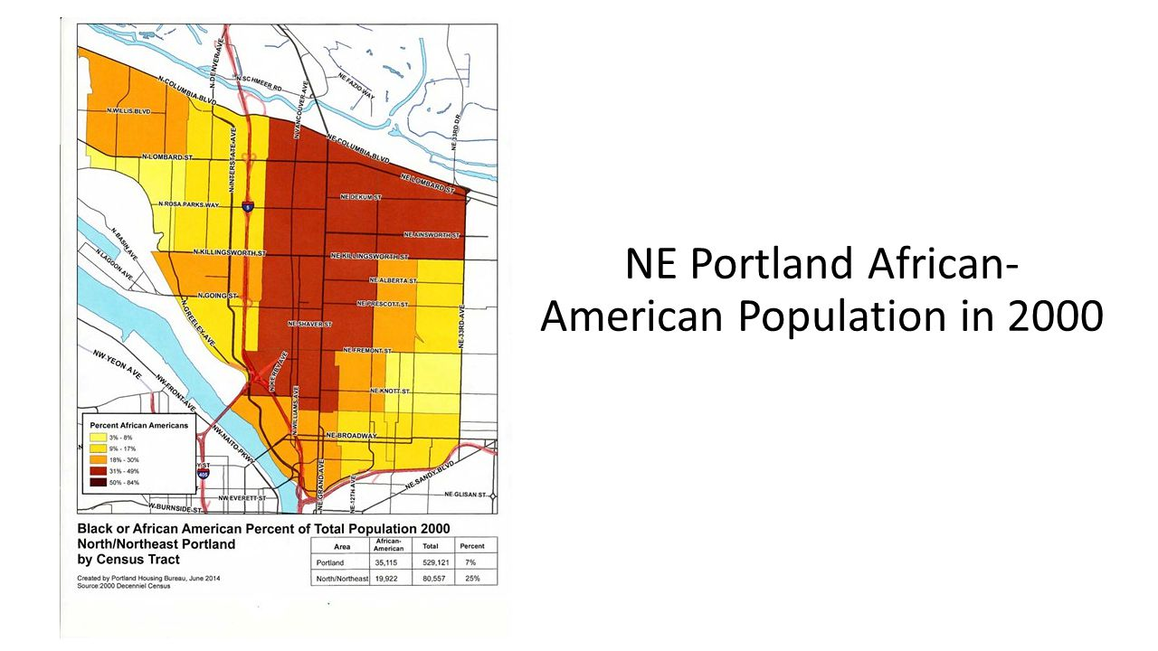 NE Portland African- American Population in 2000