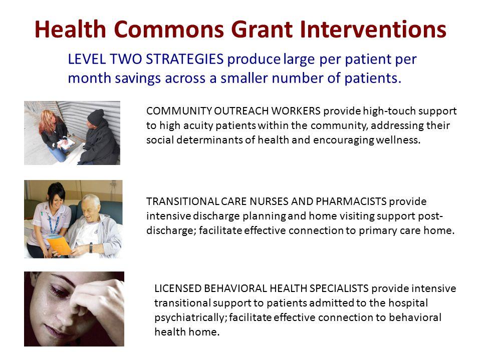 Partner organizations for interventions InterventionTeamYear One Outreach (CareOregon) Interdisciplinary Community Care Teams (ICCT) CareOregon, MCHD, CCHD, Virginia Garcia, Central City Concern, Providence, Legacy IM clinics, OHSU Richmond, OHSU ED, EMS, Cascadia, Neighborhood Health Clinics, The Oregon Clinic Hospital-to-home (OHSU) Care Transition Innovation (C-Train) OHSU, Legacy (Good Sam, Emanuel and Mt.