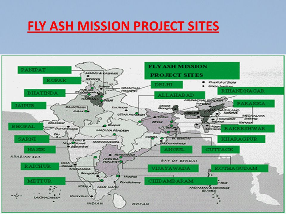 FLY ASH MISSION PROJECT SITES