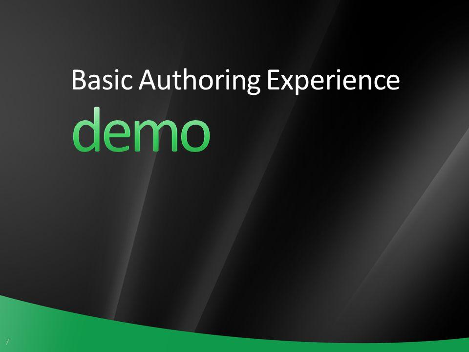 7 Basic Authoring Experience