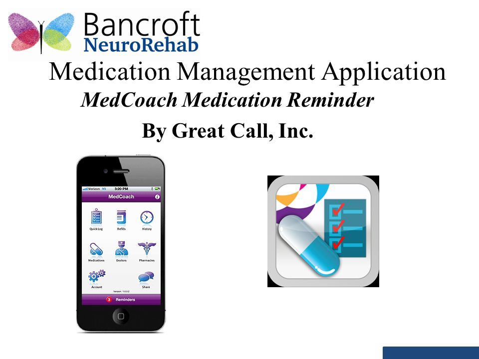 Medication Management Application MedCoach Medication Reminder By Great Call, Inc.