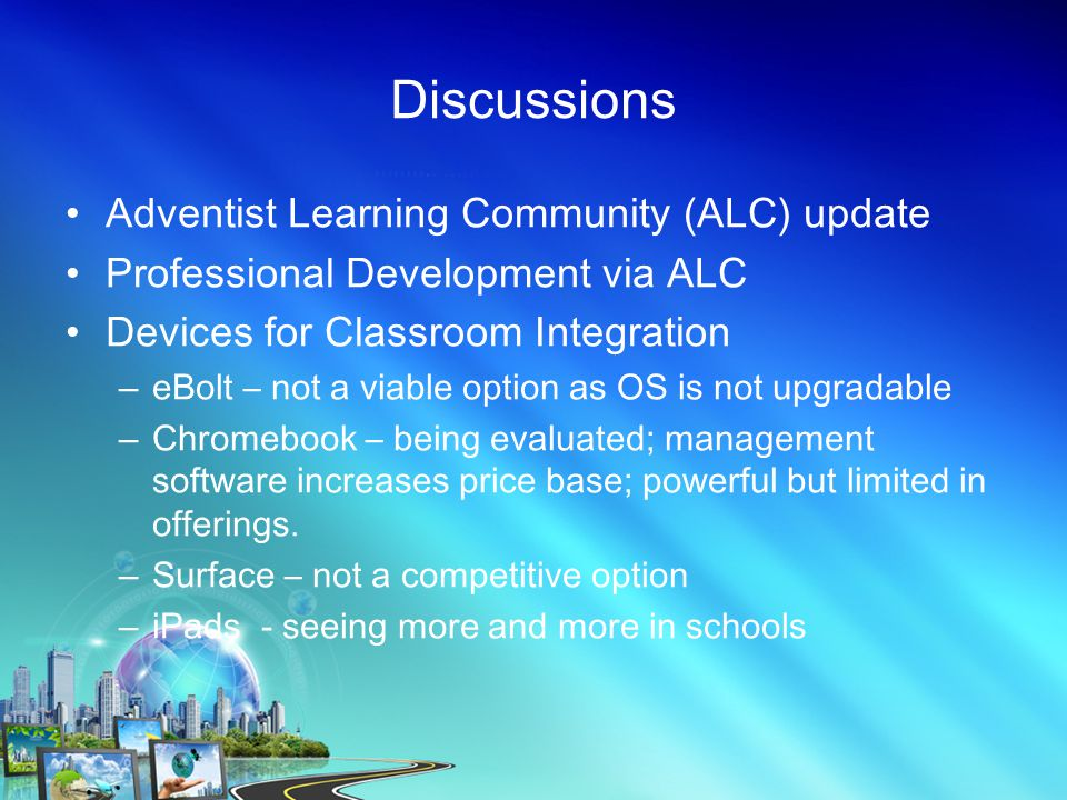 Adventist Learning Community Adam Fenner, Director of ALC, shares the vision of the ALC here.here.