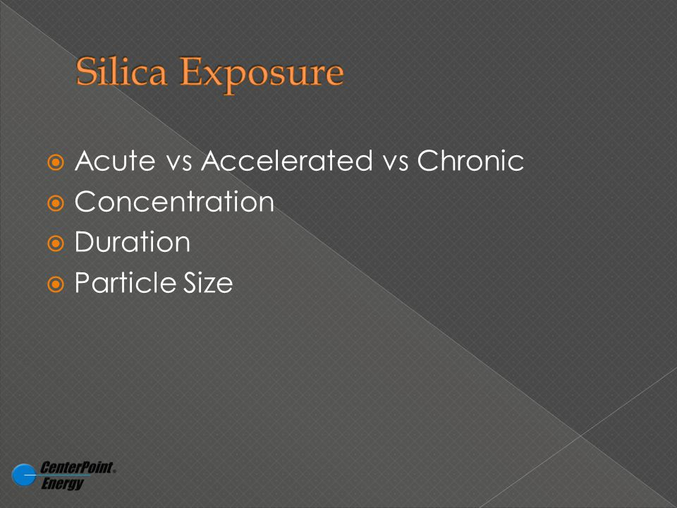  Acute vs Accelerated vs Chronic  Concentration  Duration  Particle Size