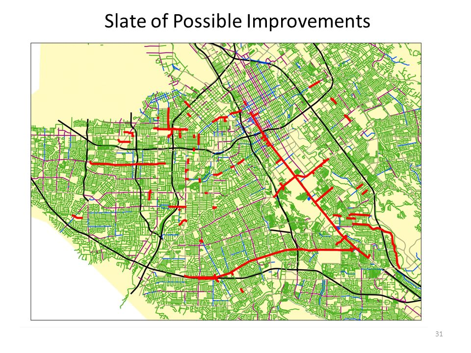 31 Slate of Possible Improvements