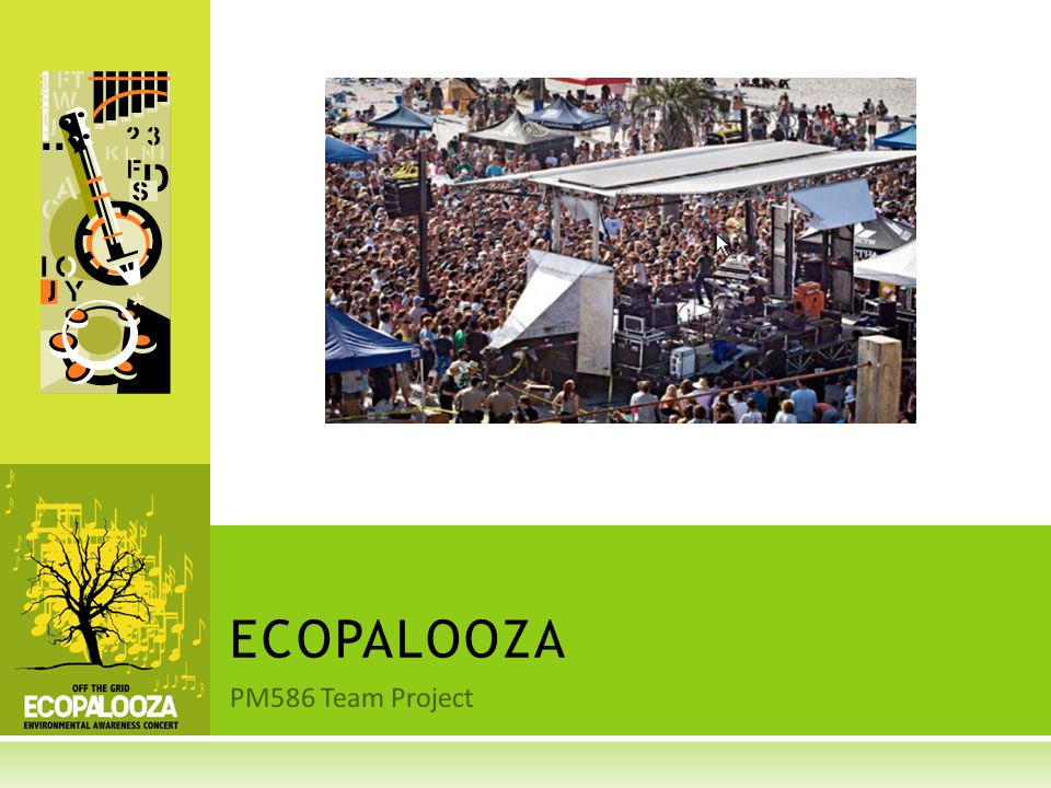 PM586 Team Project ECOPALOOZA