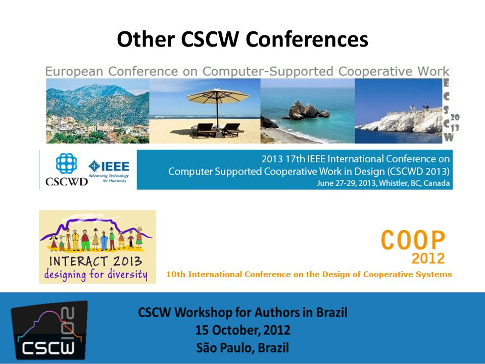 Other CSCW Conferences