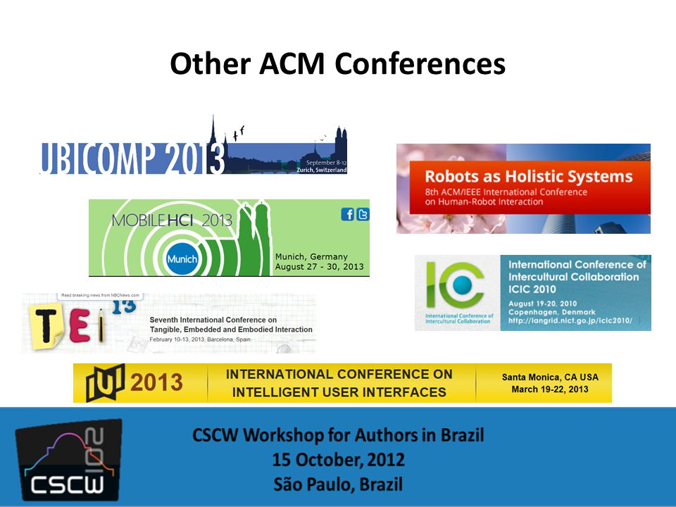 Other ACM Conferences
