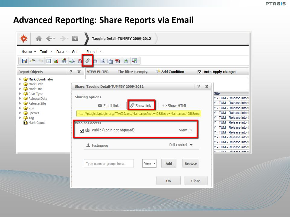 Advanced Reporting: Share Reports via Email