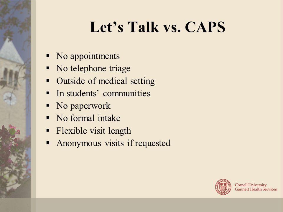 Let's Talk vs.