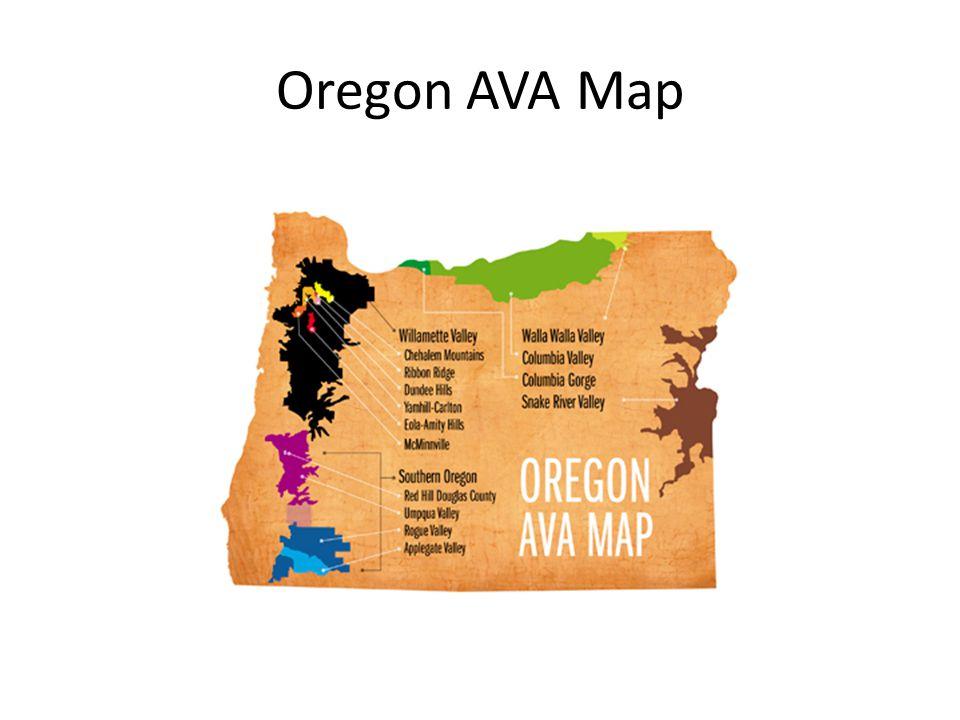 Oregon AVA Map