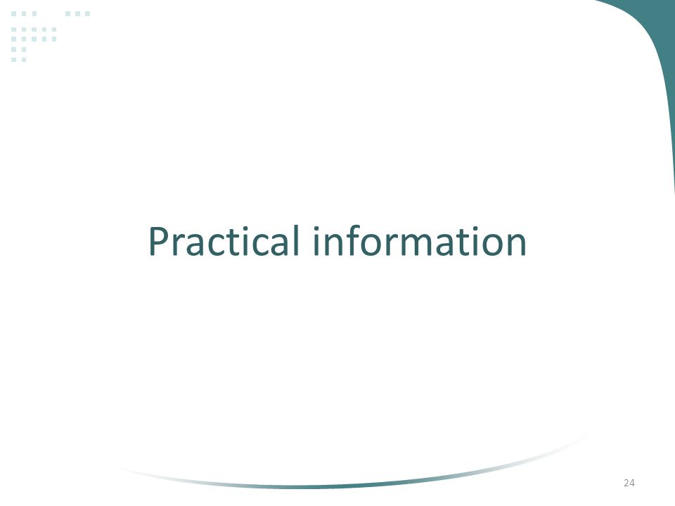 Practical information 24