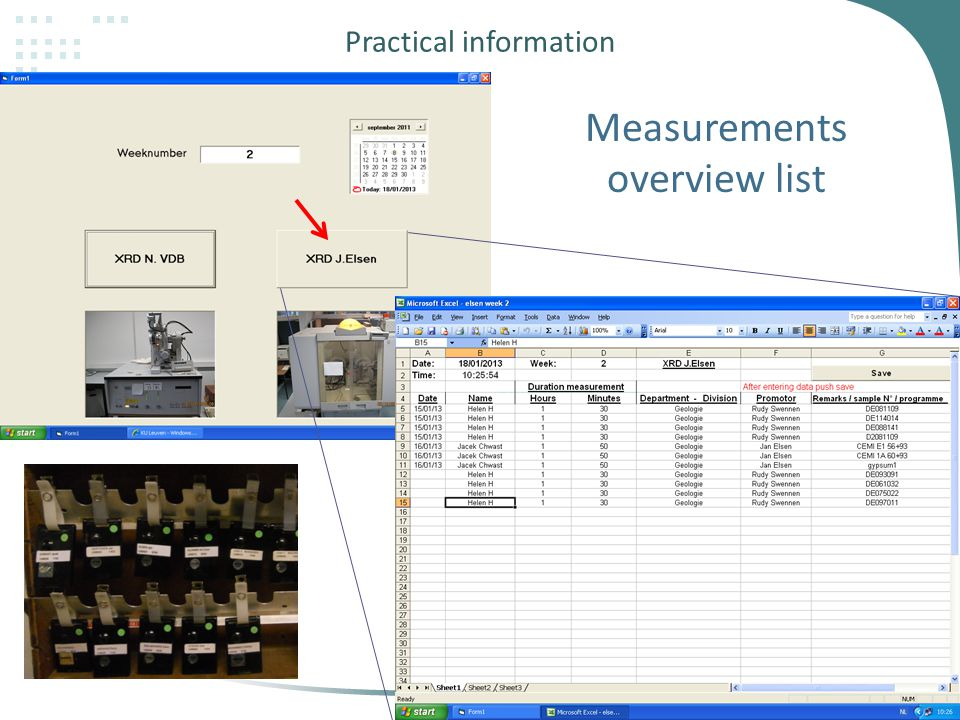 Practical information 27 Measurements overview list