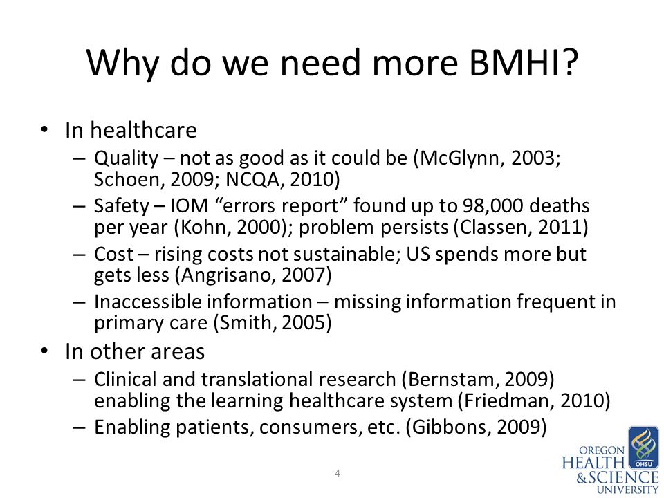 Why do we need more BMHI.