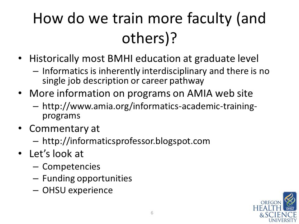 How do we train more faculty (and others).