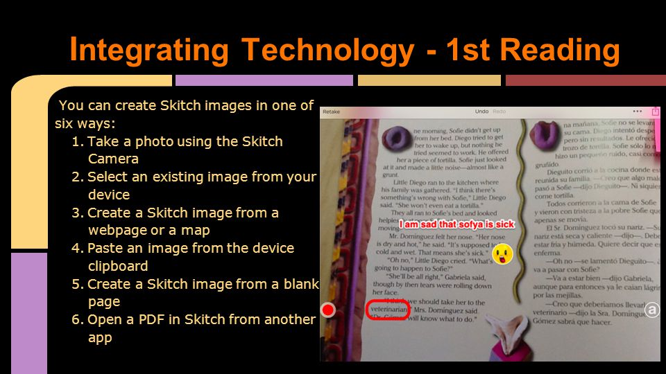 You can create Skitch images in one of six ways: 1.