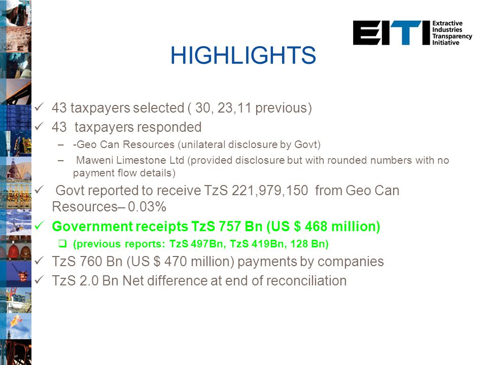4th TEITI Report for the year ended June 2012 Presented by: TEITI Secretariat 1