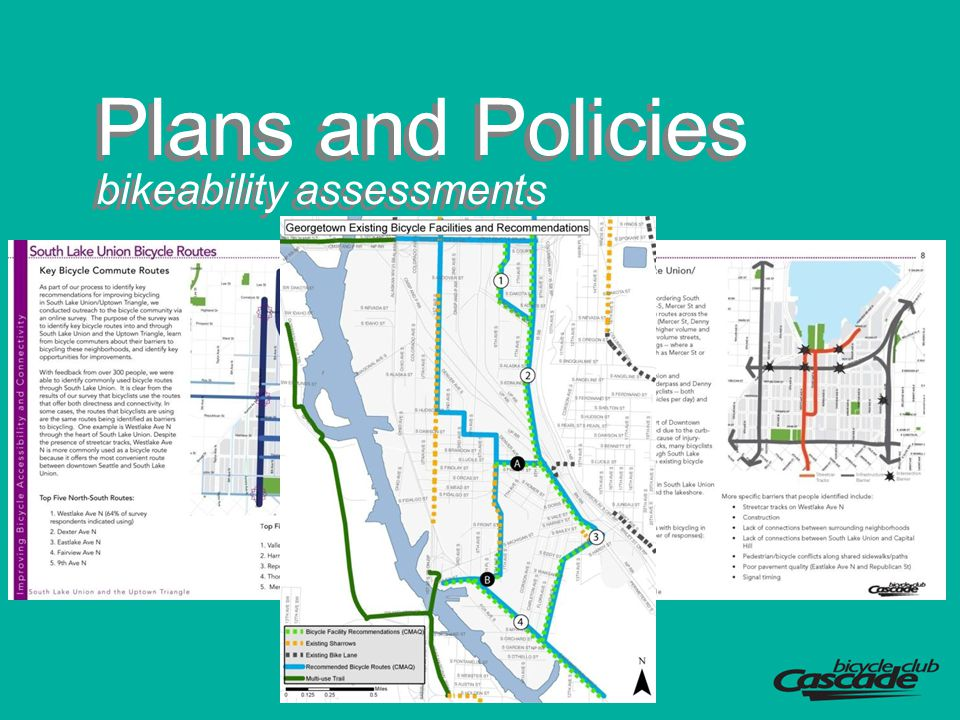 Plans and Policies bikeability assessments