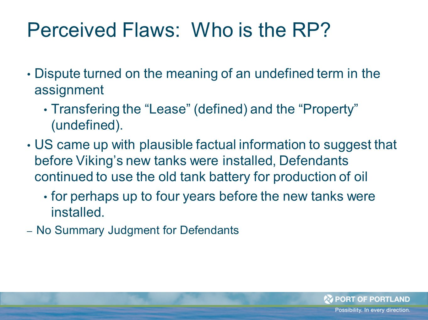 Perceived Flaws: Who is the RP.