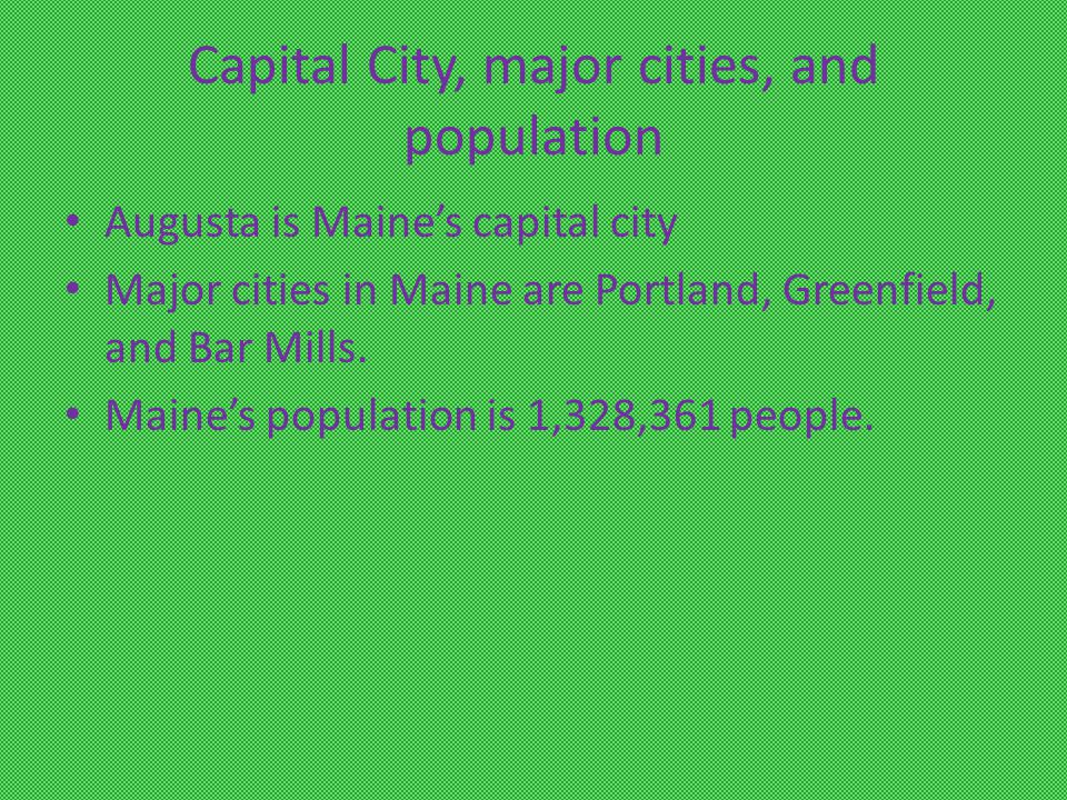 Nickname And Region of the U.S. Maine's nickname is The Pine Tree State.