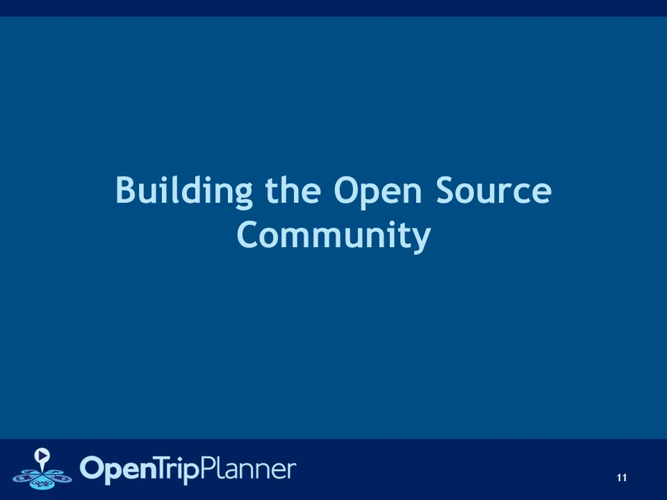Building the Open Source Community 11