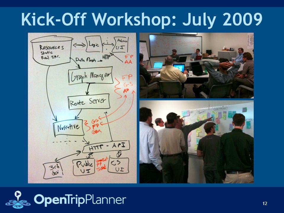 Kick-Off Workshop: July 2009 12