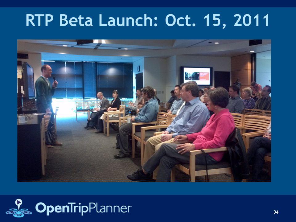 RTP Beta Launch: Oct. 15, 2011 34