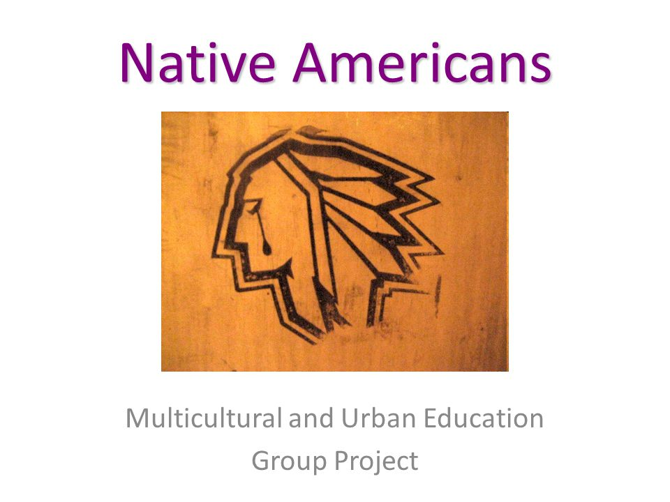 Native Americans Multicultural and Urban Education Group Project