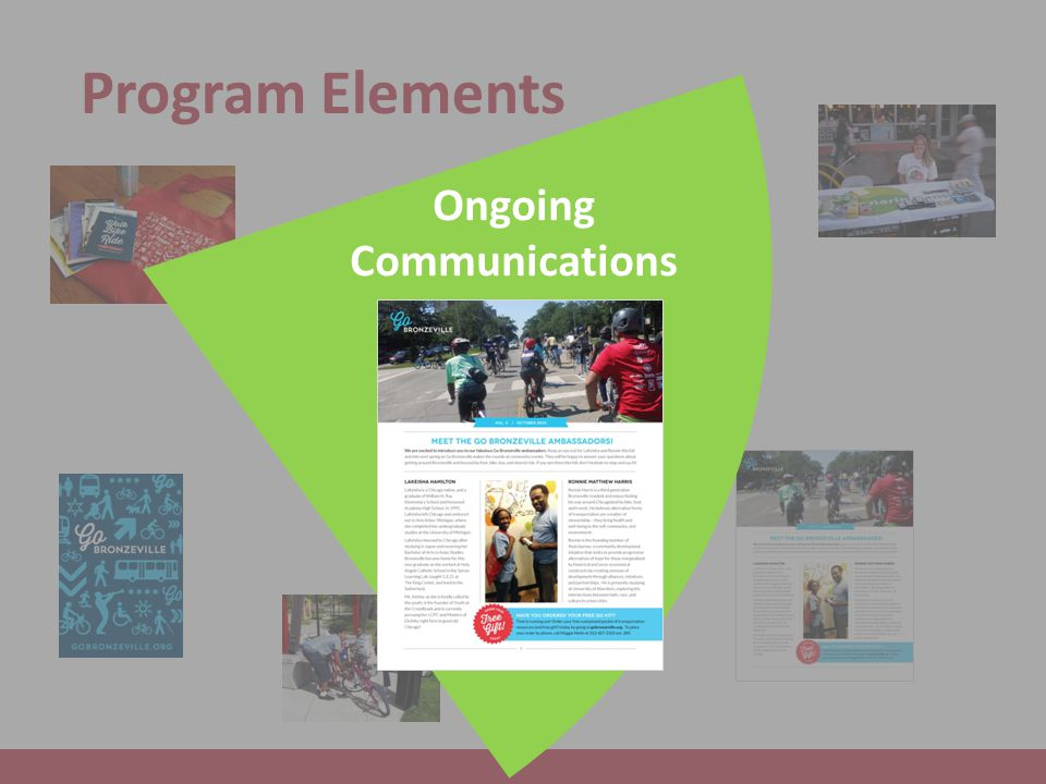 Program Elements Ongoing Communications