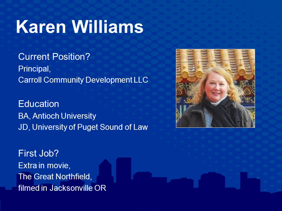 Karen Williams Current Position.