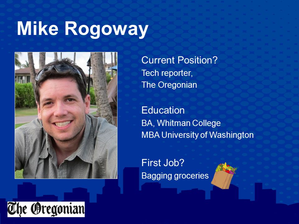 Mike Rogoway Q: What Book Are You Currently Reading.