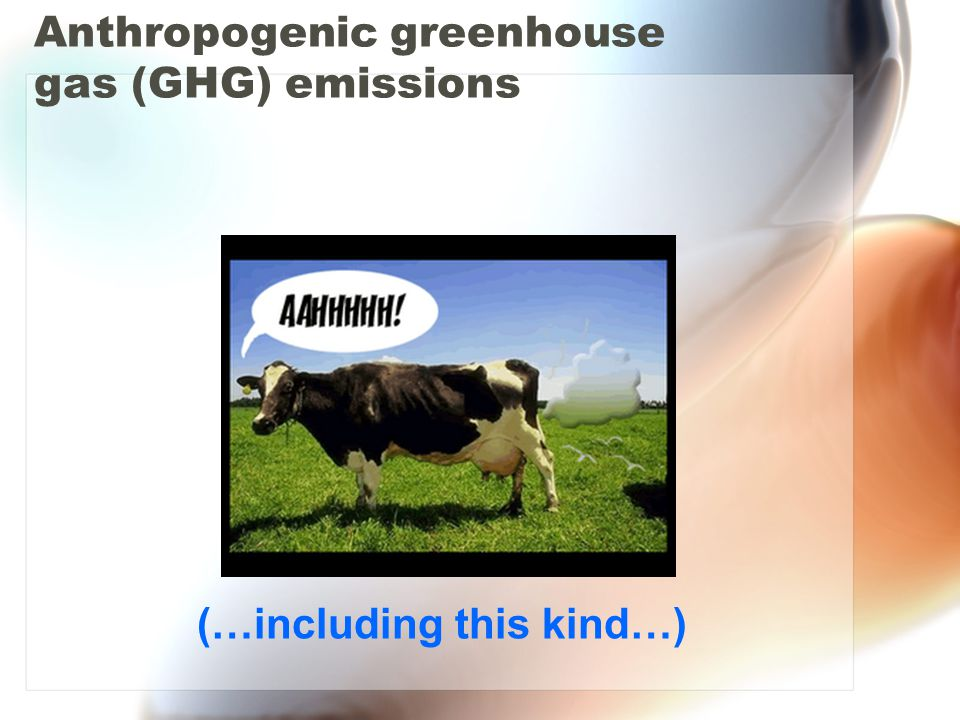 Anthropogenic greenhouse gas (GHG) emissions (…and this kind…)