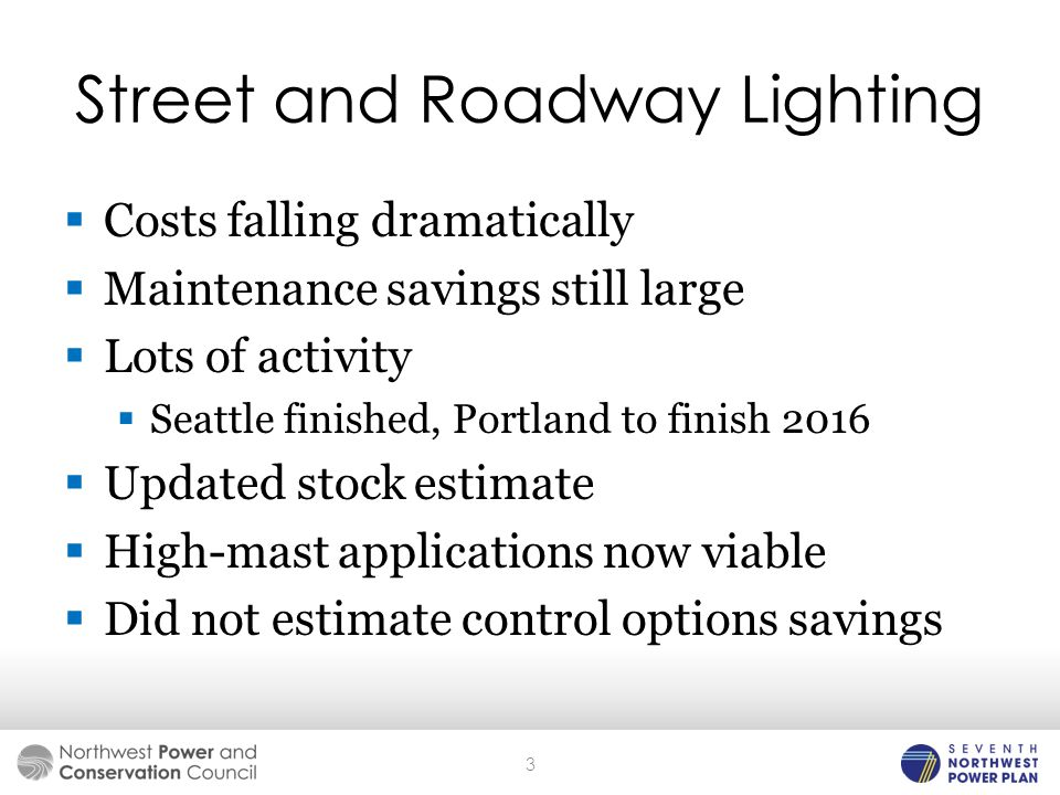  Costs falling dramatically  Maintenance savings still large  Lots of activity  Seattle finished, Portland to finish 2016  Updated stock estimate