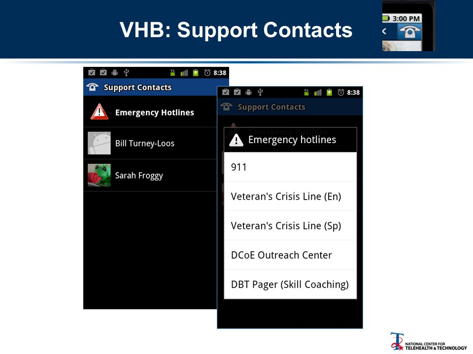 VHB: Support Contacts
