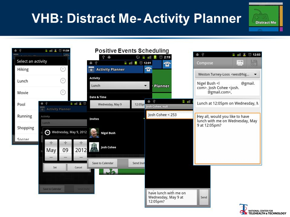 VHB: Distract Me- Activity Planner Positive Events Scheduling