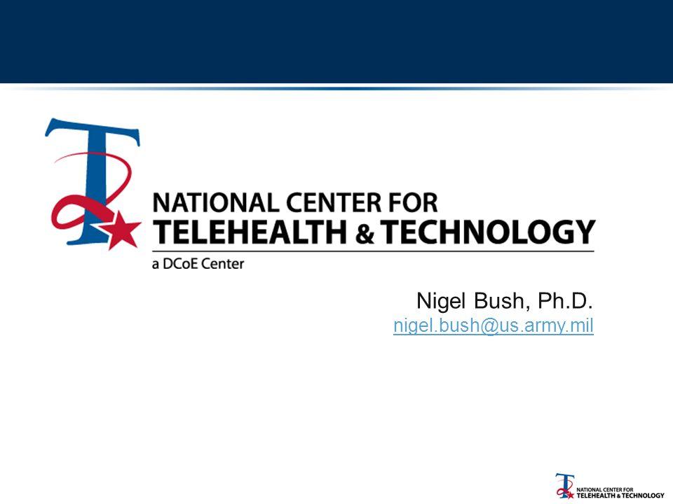 Nigel Bush, Ph.D. nigel.bush@us.army.mil