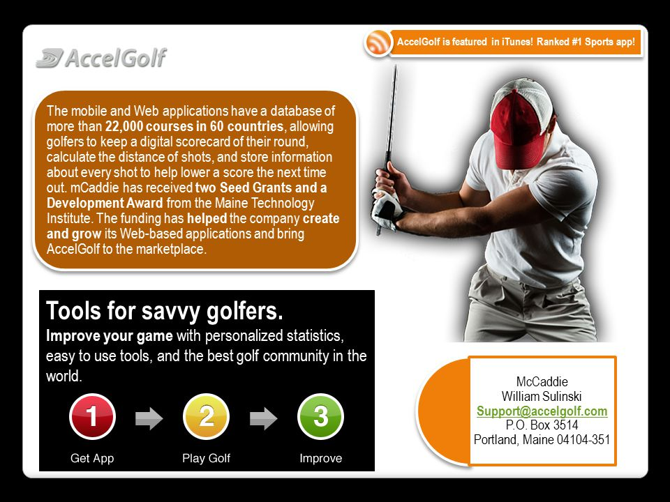 Tools for savvy golfers.