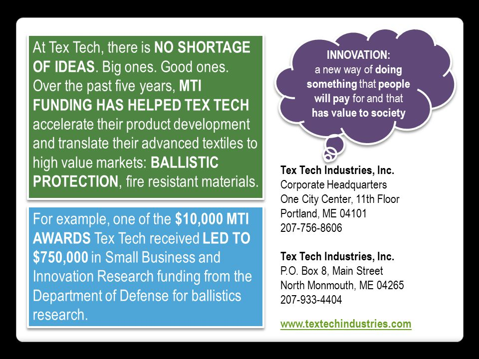 At Tex Tech, there is NO SHORTAGE OF IDEAS. Big ones.