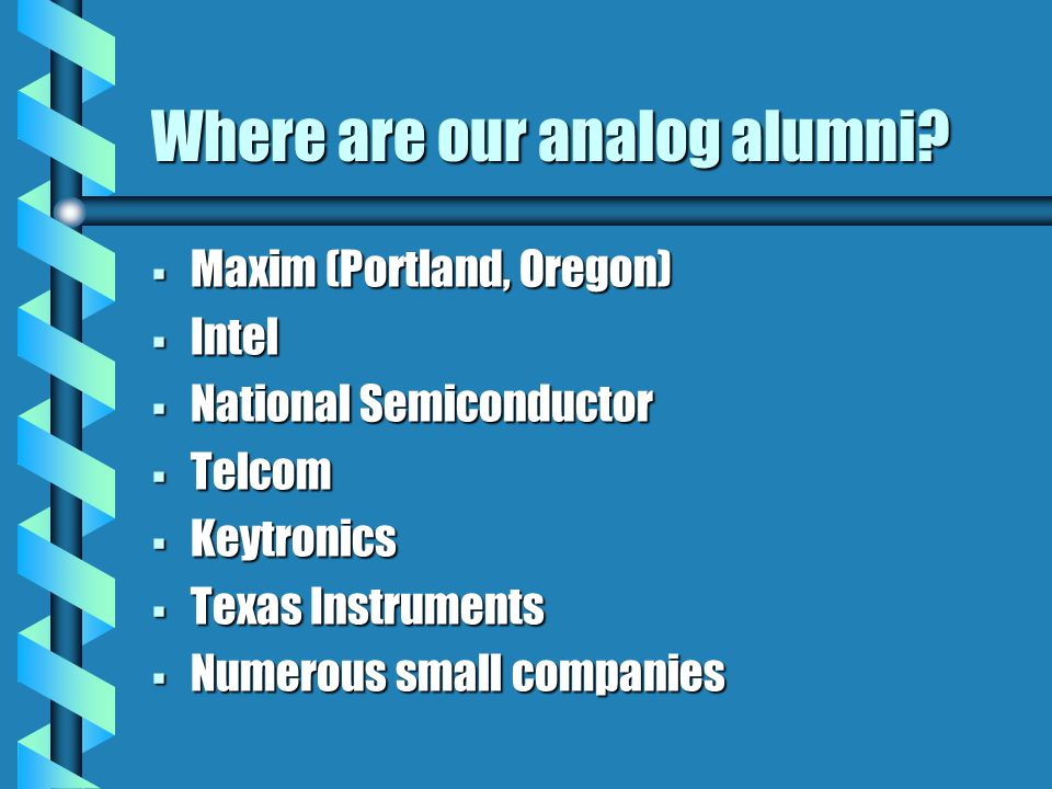 Where are our analog alumni.