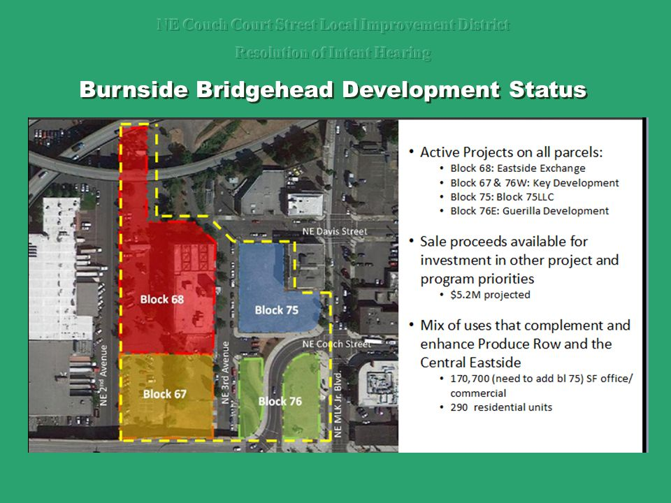 Burnside Bridgehead Development Status