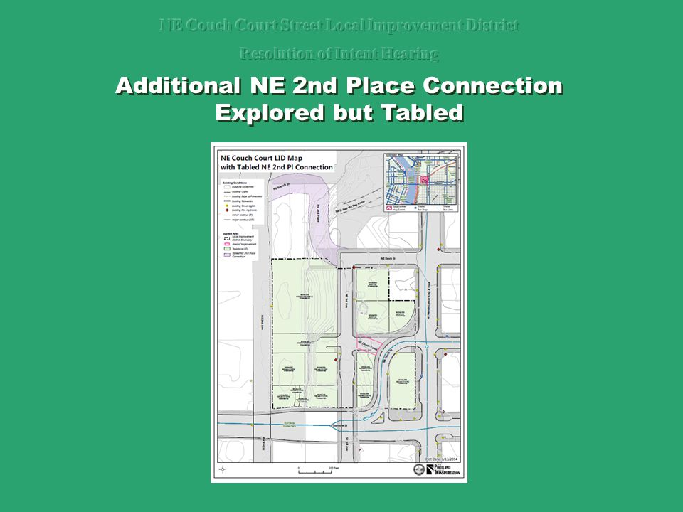 Additional NE 2nd Place Connection Explored but Tabled Additional NE 2nd Place Connection Explored but Tabled