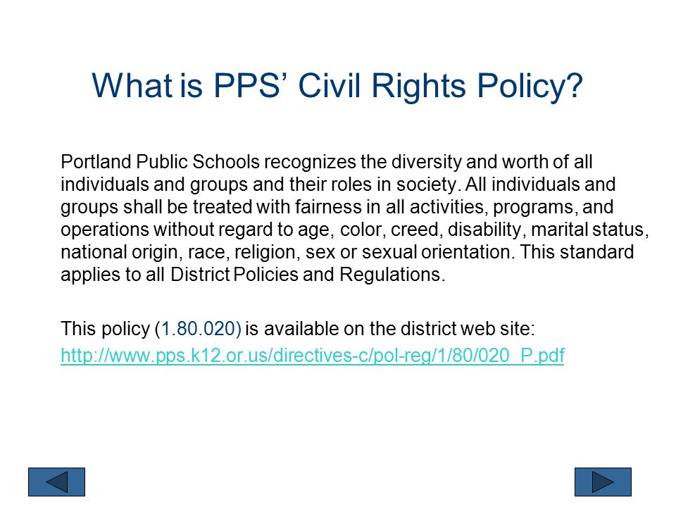 Why do we review Civil Rights each year.
