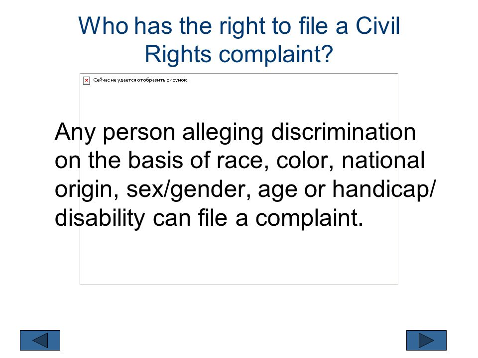 Civil Rights Quiz (Click on the statement that is correct) 3.
