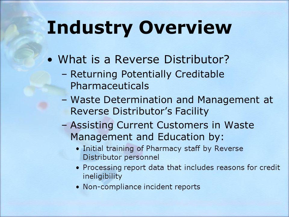 Regulatory Challenges –DEA: Memorandum of Understanding Allow Bay Area pilot program –USPS: Packaging & Labeling Acceptable Materials –State: MWMA (Medical Waste Management Act) LTC Homes SB966 (signed by Governor Schwarzenegger)