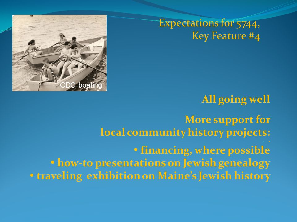 DMJ has  recorded interviews with 40 Greater Portland Jews  located an additional 40 oral interviews in the archives of Portland Public Library  compiled a list of more than 250 other personal biographic histories and interviews of Maine Jews