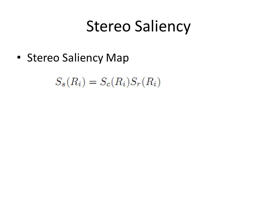 Stereo Saliency Map