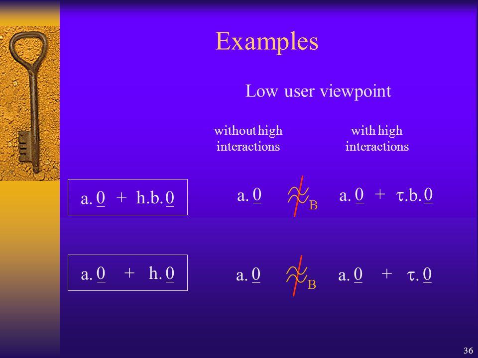 36 Examples 00h.b. a. + 0 00 .b. a. + 00h. a.
