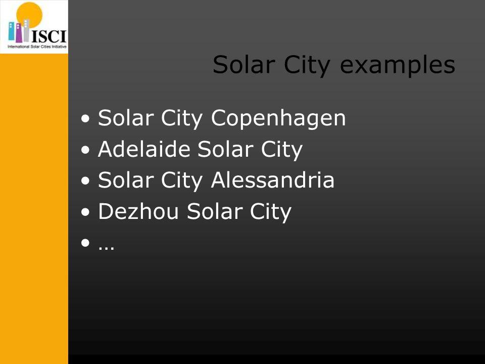 Solar City examples Solar City Copenhagen Adelaide Solar City Solar City Alessandria Dezhou Solar City …